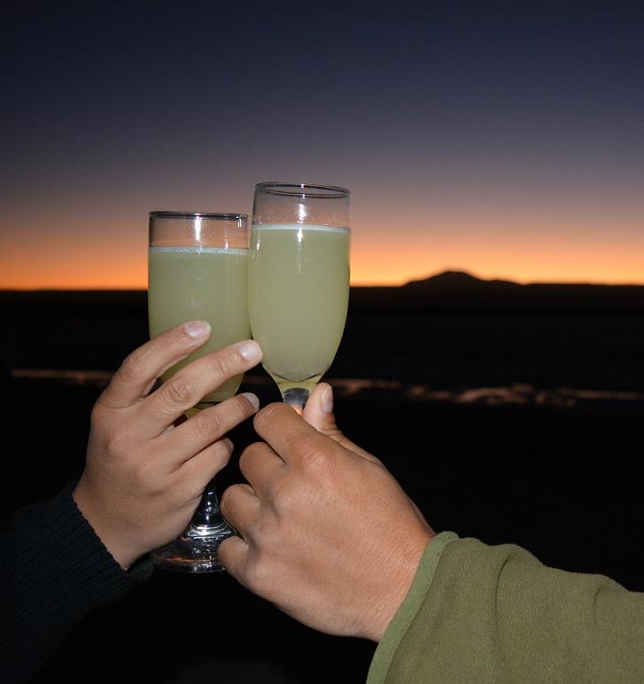 Pisco Sour no Atacama