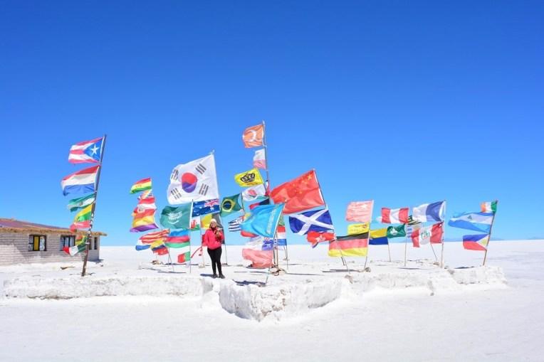 Ilha das Bandeiras, no Salar do Uyuni