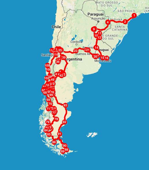 6 meses de viagem pela América do Sul