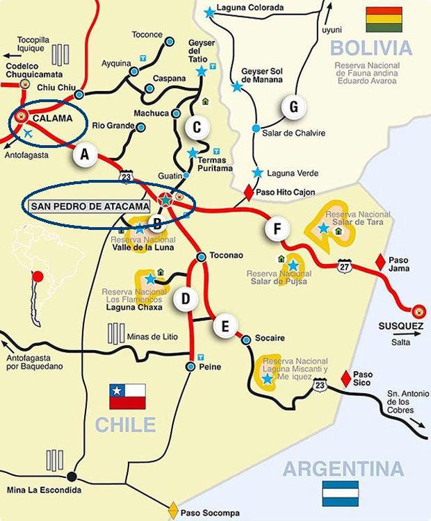 Mapa do Atacama