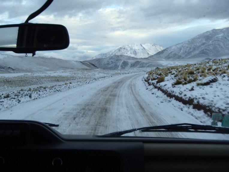 Neve no Atacama
