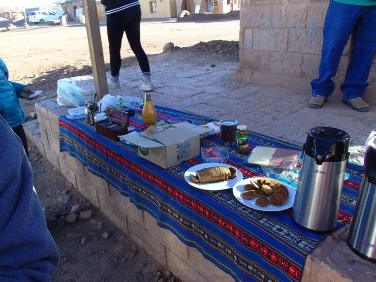Café-da-manhã em San Pedro de Atacama