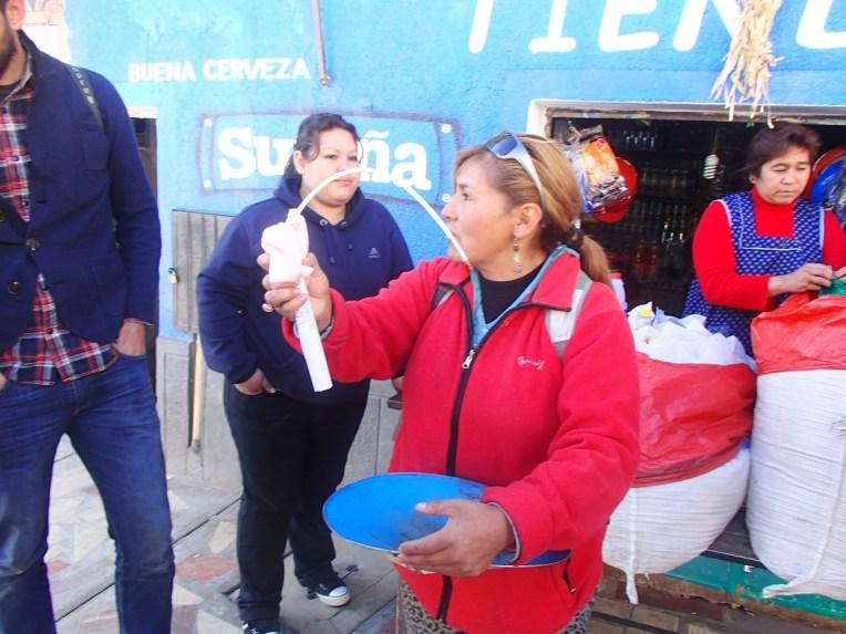 Comprando dinamite em Potosí
