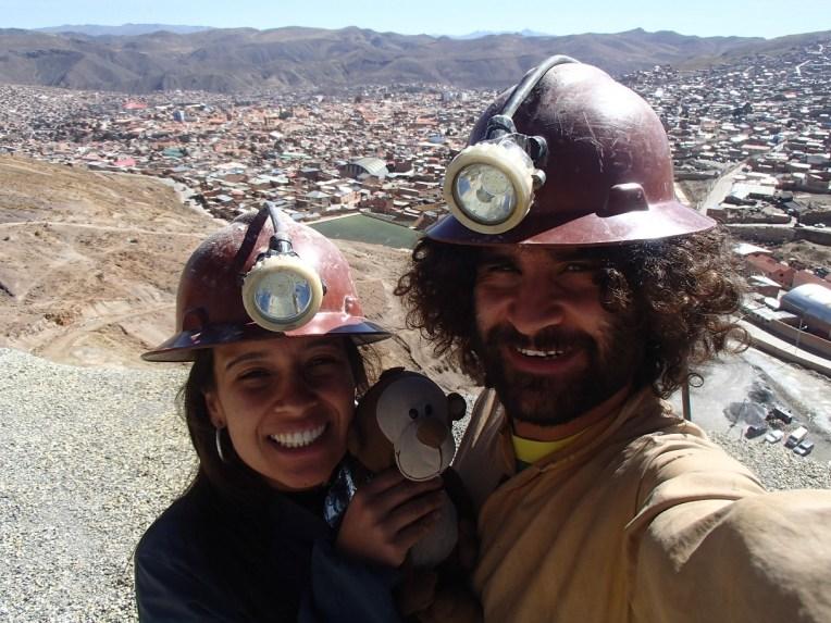 Cerro Rico, com a cidade de Potosí ao fundo
