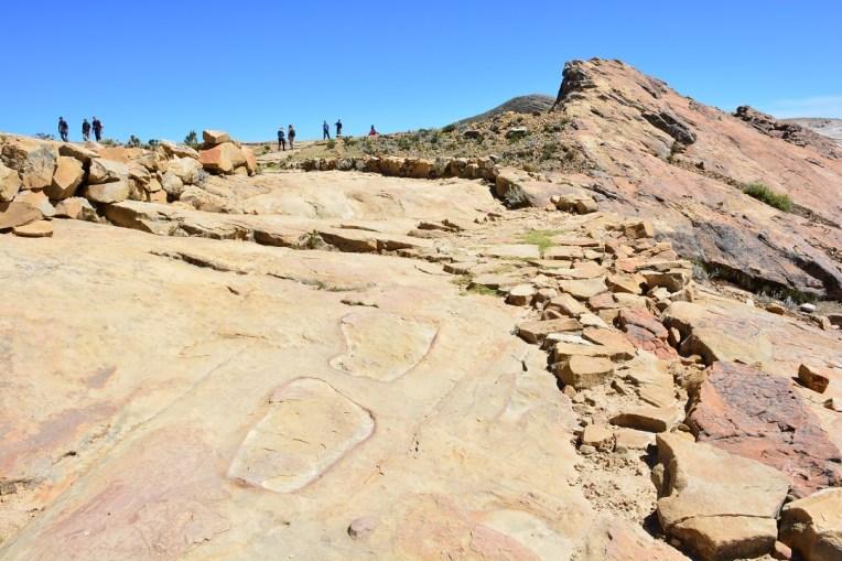 Pegadas de Thunupa, na Isla del Sol