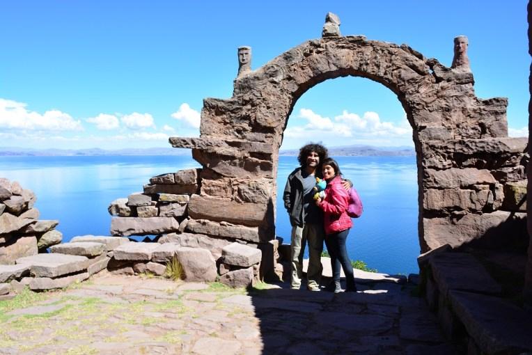 Portal da ilha de Taquile, no Titicaca