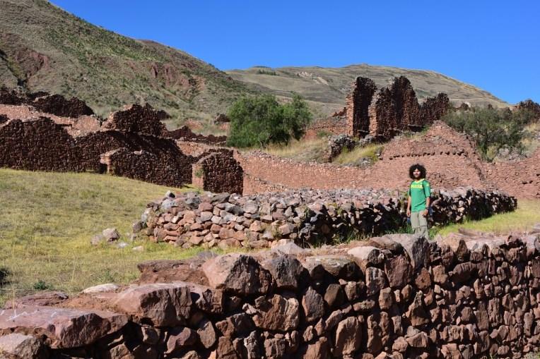 Ruínas na cidade inca de Pikillacta