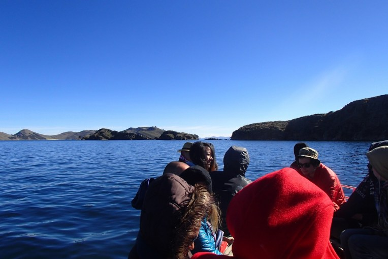 Seguindo em barco até a Isla del Sol