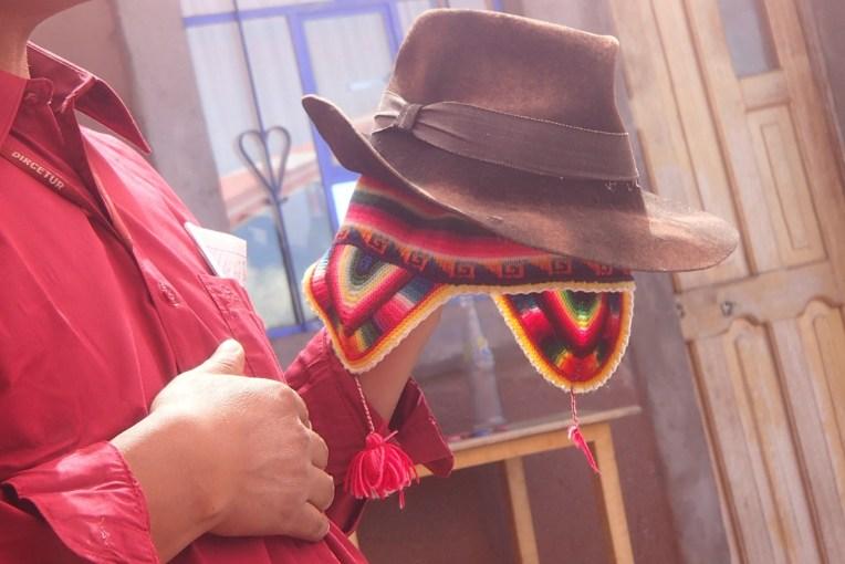 Gorro e chapéu usado pelas autoridades de Taquile