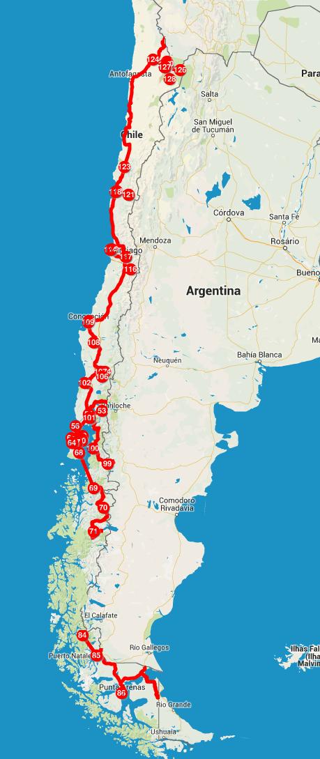 Roteiro do nosso mochilão pelo Chile