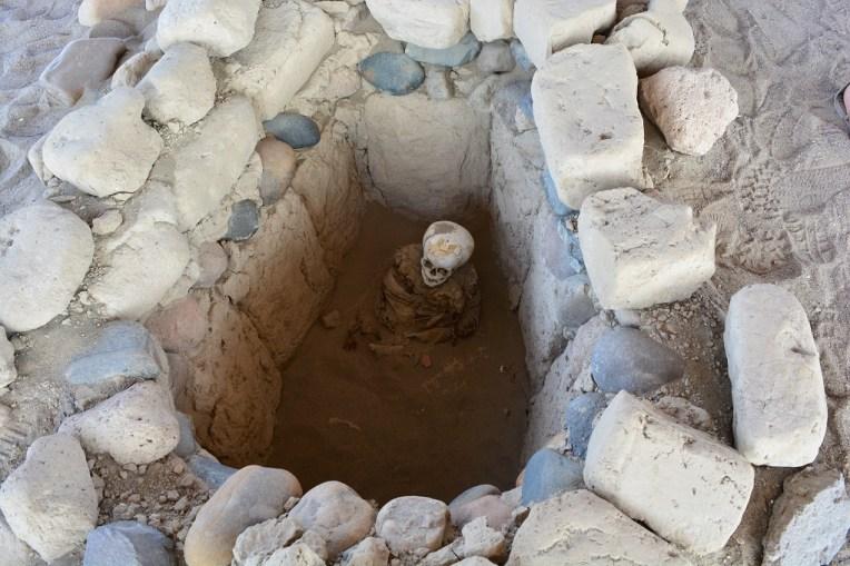 Cova de uma criança enterrada em Chauchilla