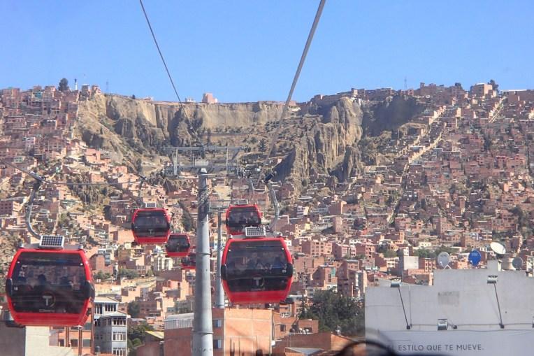 Teleféricos em La Paz - transporte de primeiro mundo