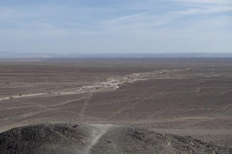 Vista de cima do mirador natural