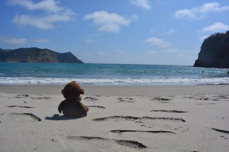 Mucuvinha curtindo a praia de Los Frailes