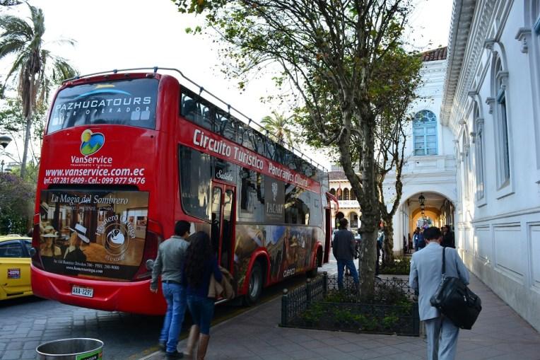 Ônibus turístico em Cuenca