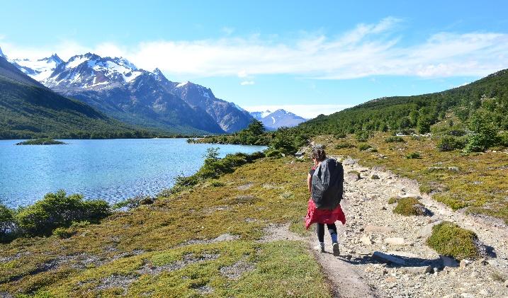 Caminhando pelo Parque Los Glaciares, na Argentina