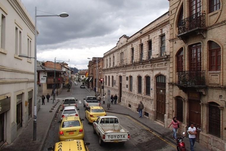 Calle Larga, uma das ruas coloniais de Cuenca