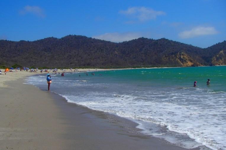 A praia de Los Frailes