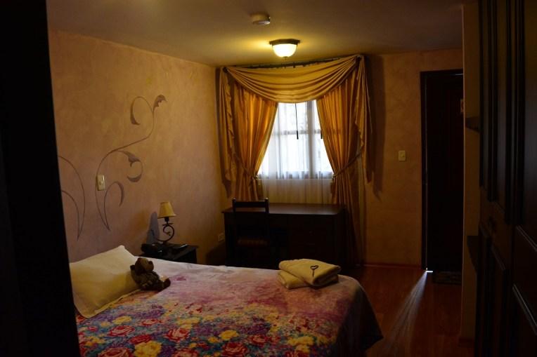 Hotel Villa de Tacvnga, provavelmente o mais luxuoso de Latacunga