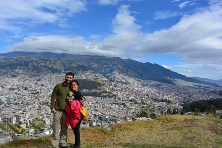 Em um mirador de Quito