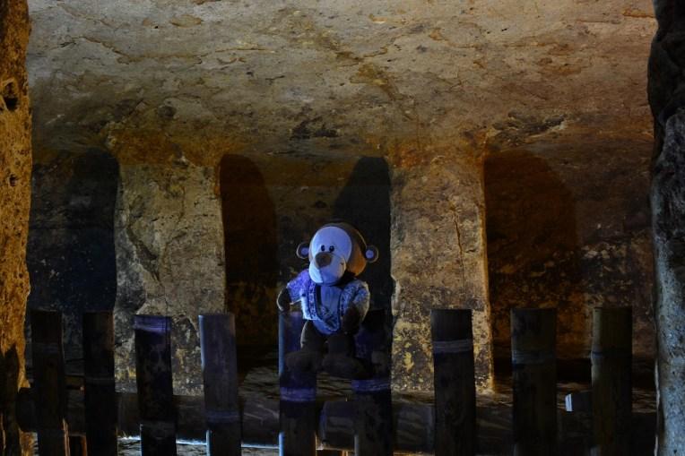 Mucuvinha dentro de uma tumba de Segovia