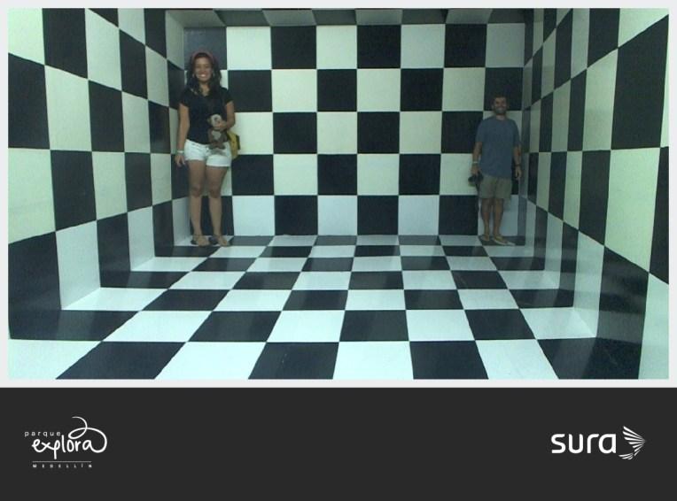 Um pouco de ilusão de ótica no Parque Explora