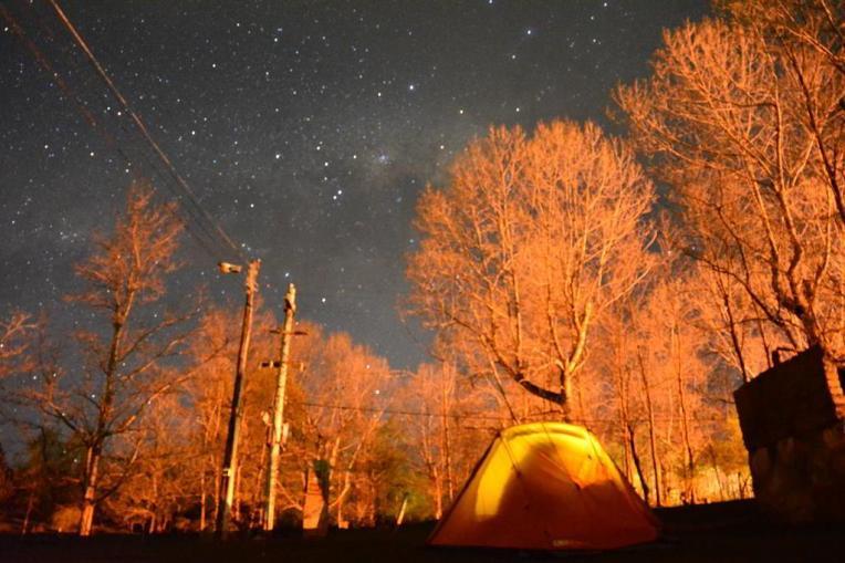 Nossa barraca em um camping de Las Vegas (Mendoza)