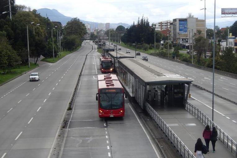 Transmilenio, o principal sistema de transporte de Bogotá