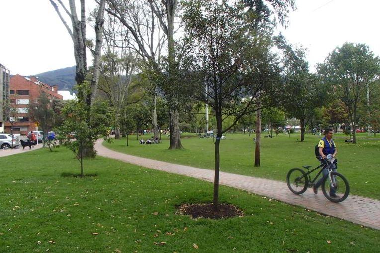 Virrey, um dos inúmeros parques de Bogotá