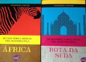 Livros da volta ao mundo de Guilherme Canever e Bianca Soprano