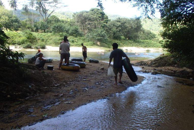 Chegando ao rio