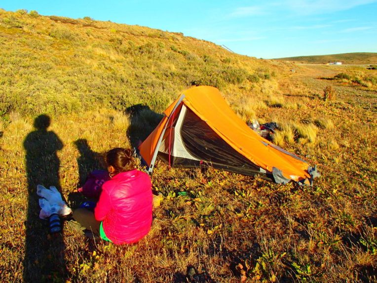 Camping selvagem na Tierra del Fuego