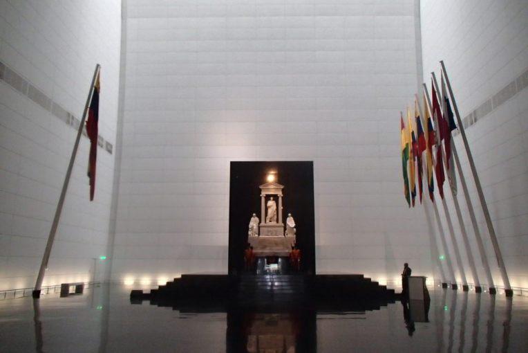 Caixão de Simón Bolívar, em Caracas