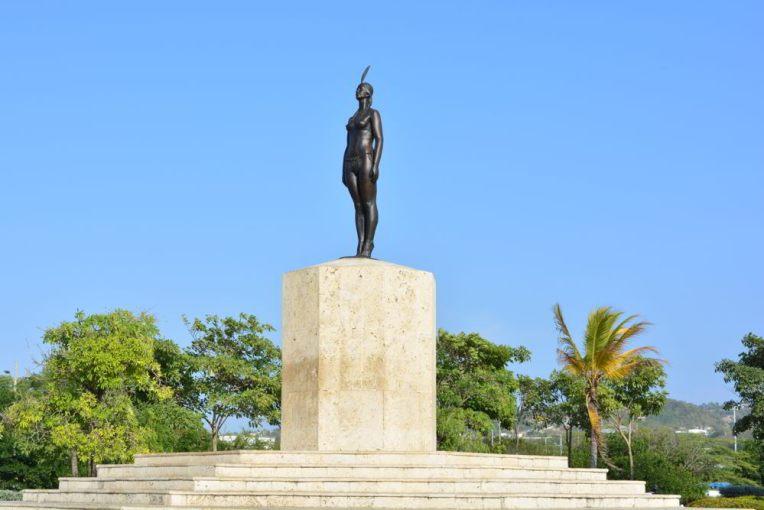 Estátua da Índia Catalina em Cartagena