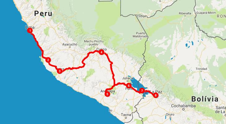 Roteiro Peru - Bolívia