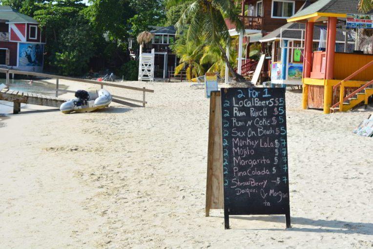 Preços em West Bay (em dólares)