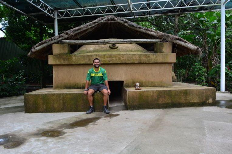 Réplica de uma sauna em Cerén