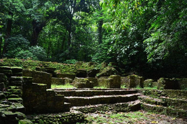 Ruínas ainda não restauradas em Palenque