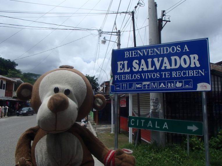 Entrando em El Salvador