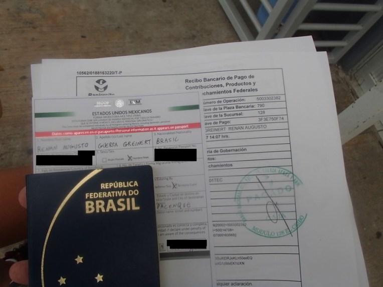 Documentos imigração México
