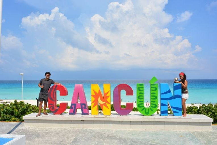 Letreiro de Cancún