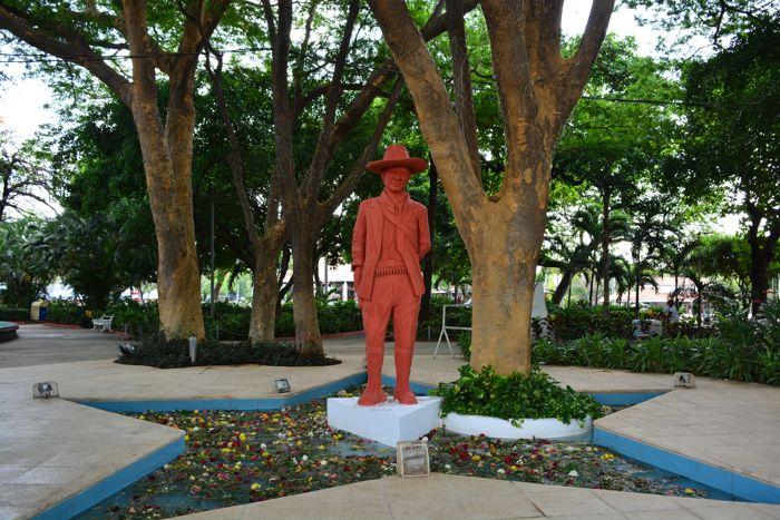 Estátua de Sandino, herói nacional da Nicarágua