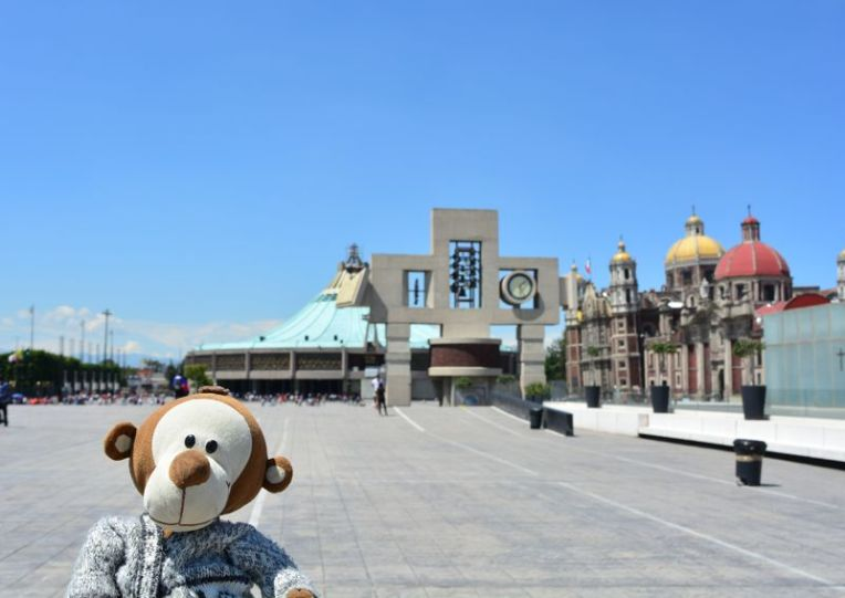 Mucuvinha na grande praça da Basílica de Guadalupe