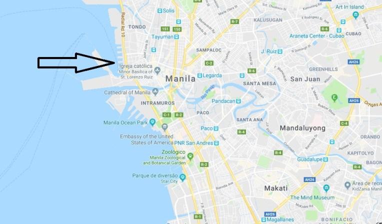 Local de embarque da 2go em Manila