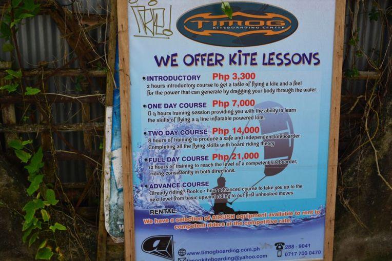 Preços para fazer Kite Surfing em Boracay