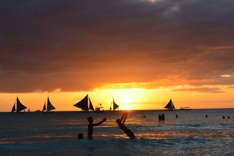 Pôr do sol em Boracay