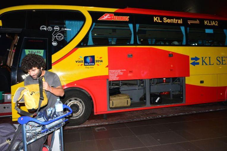 ônibus do aeroporto de Kuala Lumpur