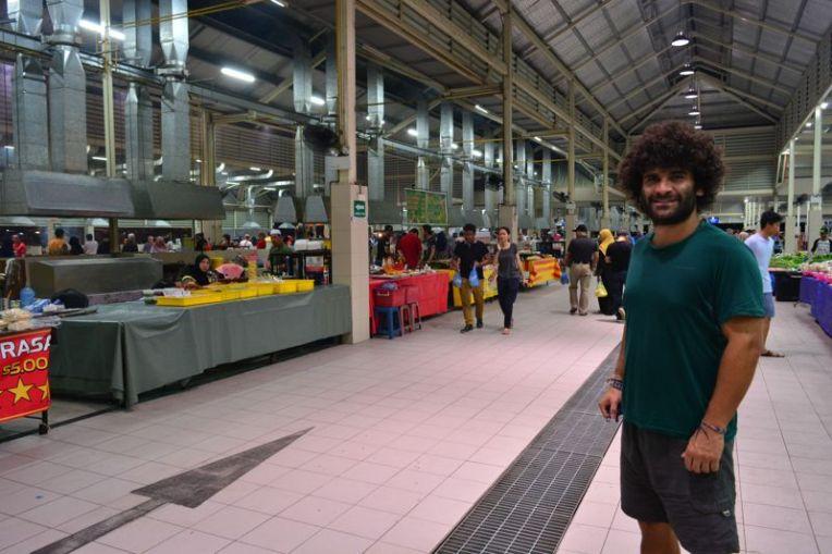 Mercado noturno de Brunei