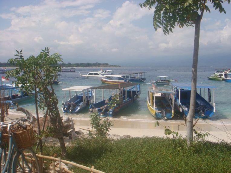 Barcos para as ilhas Gili