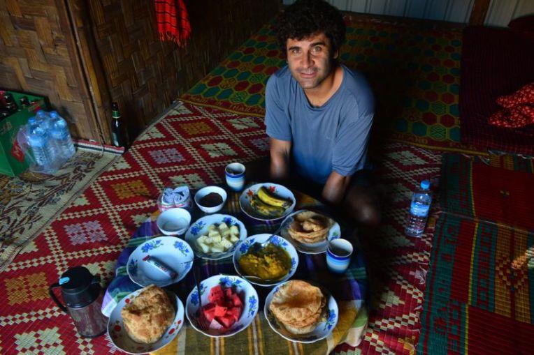 Comida típica do Myanmar